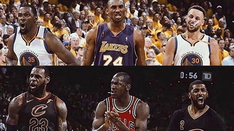 Shaq plantea el debate definitivo: Durant, Kobe y Curry vs LeBron, Jordan e Irving